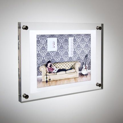 Wall Mounted perspex Photo Frame in varying sizes