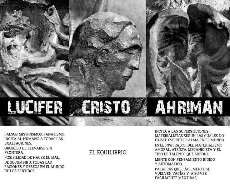 Risultati immagini per Rudolf Steiner e  Lucifero-Cristo-Ahriman