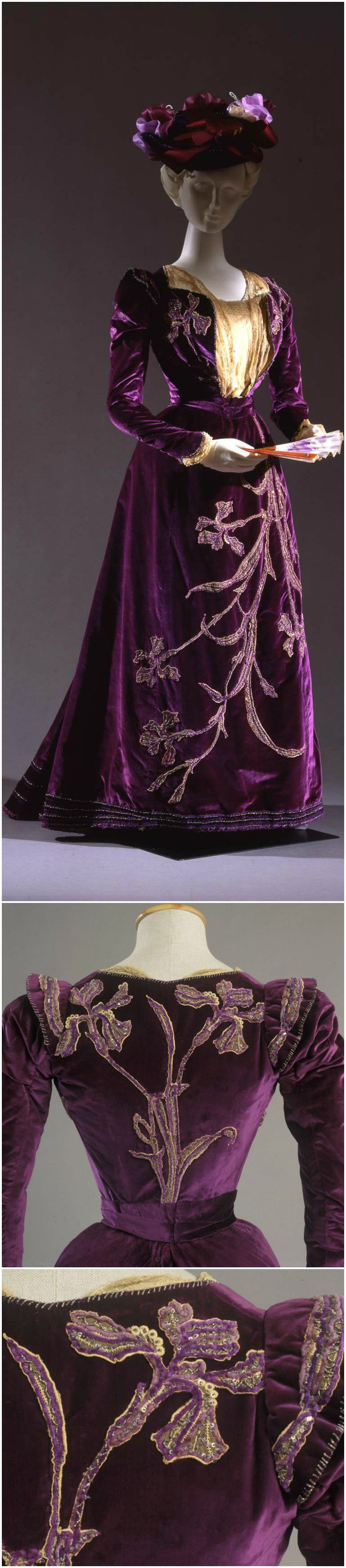 Two-piece walking dress, by Sartoria B. Pontecorvo, Rome, beginning of the 20th century (before 1906), at the Pitti Palace Costume Gallery. Via Europeana Fashion.
