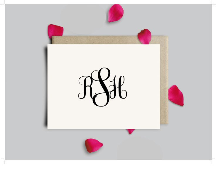 Monogram Thank You Notes | Printable | Classic Three Initial Monogram Note Cards | Personalized Stationery | Printable Stationery| Personalized Monogram Thank You Cards | Gift for Her | Gift for Mom by SouthernSilverLining on Etsy https://www.etsy.com/listing/485152888/classic-three-initial-monogram-note