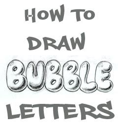 Step by step bubble letters