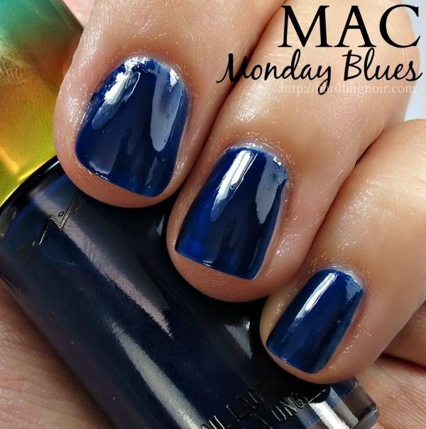 MAC Monday Blues Nail Polish Swatches // Wash & Dry
