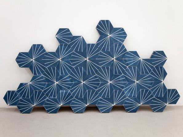 Marrakech tile exhibition.