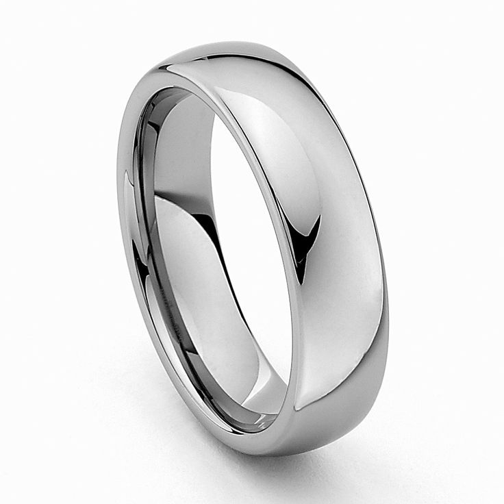 * Laser Engraving Service * 6mm Plain Tungsten Carbide Comfort-fit Wedding Band Ring (Size 8.5 to 12.5)- Size 12.5