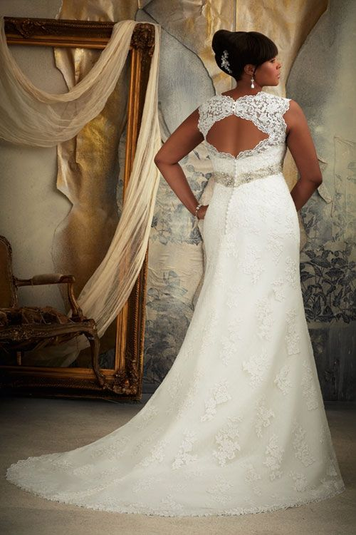plus size wedding dress 2014 i love the back on this