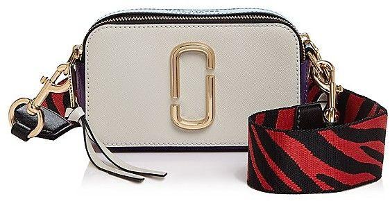 MARC JACOBS Snapshot Zebra Strap Color Block Leather Camera Bag