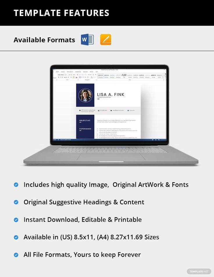 Folder operator resume template ad sponsored