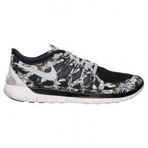 Venta Exclusiva Hombre Nike Lightweight Free 5.0 Print - negras/Wolf gris/blancas 705286 011