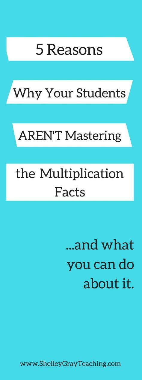 Are your students struggling with the basic multiplication facts? Are you pulling your hair out wondering what else you can possibly do? Let's go over some of the most common reasons that your students are having trouble with multiplication fact mastery and develop a plan for what you can do about it.