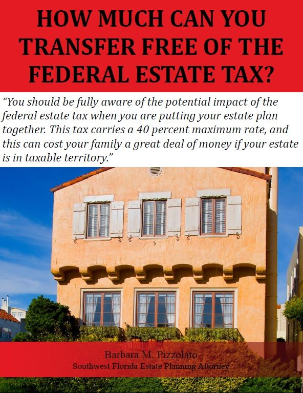 You should be fully aware of the potential impact of the federal estate tax when you are putting your estate plan together. This tax carries a 40 percent maximum rate, and this can cost your family a great deal of money if your estate is in taxable territory.    To explain the estate tax parameters, we should provide a bit of background information. The estate tax was repealed entirely for the 2010 calendar year due to provisions that were contai