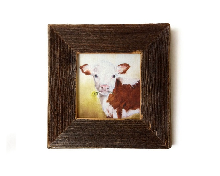 Rustic Wall Decor For Nursery : Cow nursery art print farm animal kids wall rustic