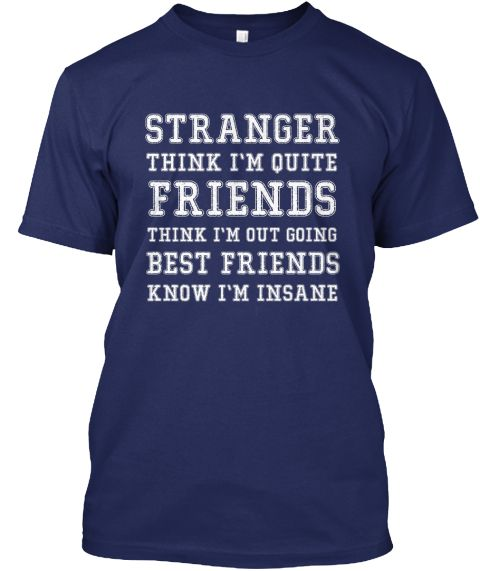 Stranger Friends Navy T-Shirt Front