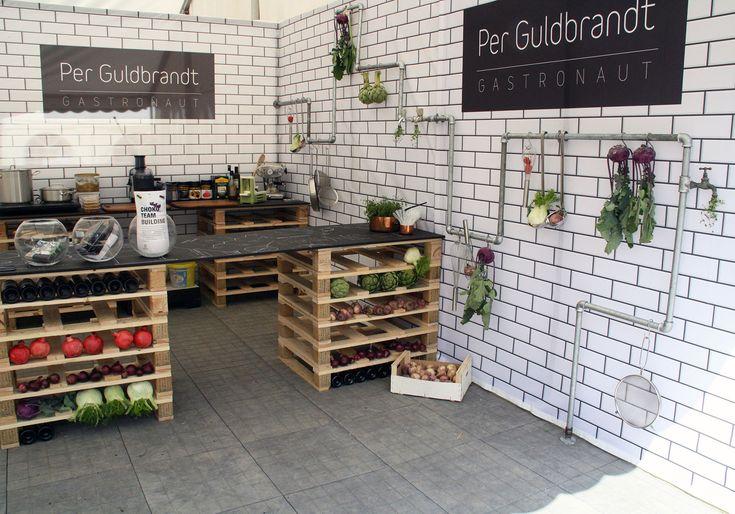Exhibition Stand Kitchen : Kitchen lab exhibition stand for per guldbrandt