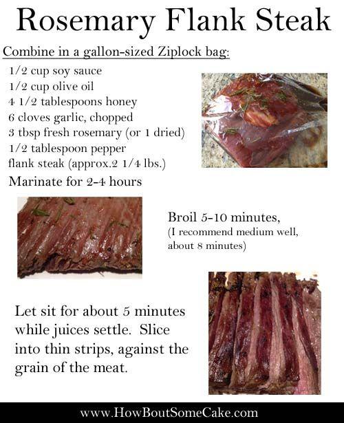 My favorite flank steak recipe    Rosemary Flank Steak