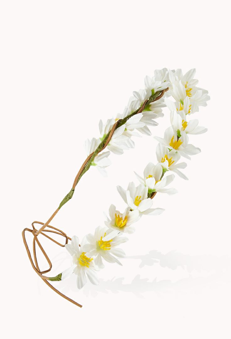 Dainty Darling Flower Crown | FOREVER21 Who is excited for #Festival season?! #FlowerCrown #Accessories #Daisies