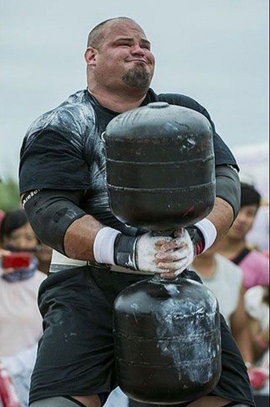 Brian Shaw, winner of the 2013 World's Strongest Man, held in China