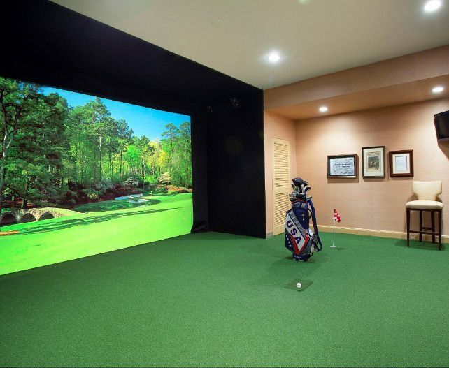17 best images about golf simulators on pinterest golf for Interior design room simulator