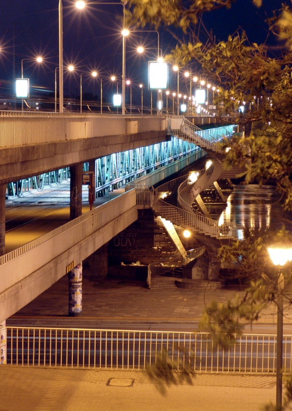 Gdański bridge Warsaw PL