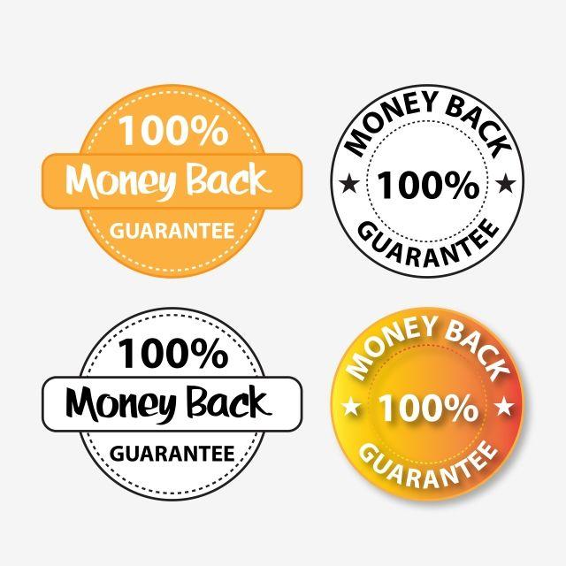 100 Money Back Guarantee Badge Vector Design Transparent Black And White Golden Editable 100 Money Back Png And Vector With Transparent Background For Free D Vector Design Freelance Graphic Design Design