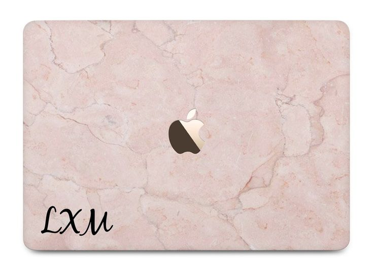 Personalised Pink Marble Initial MacBook Case - LIVE x MAINTAIN