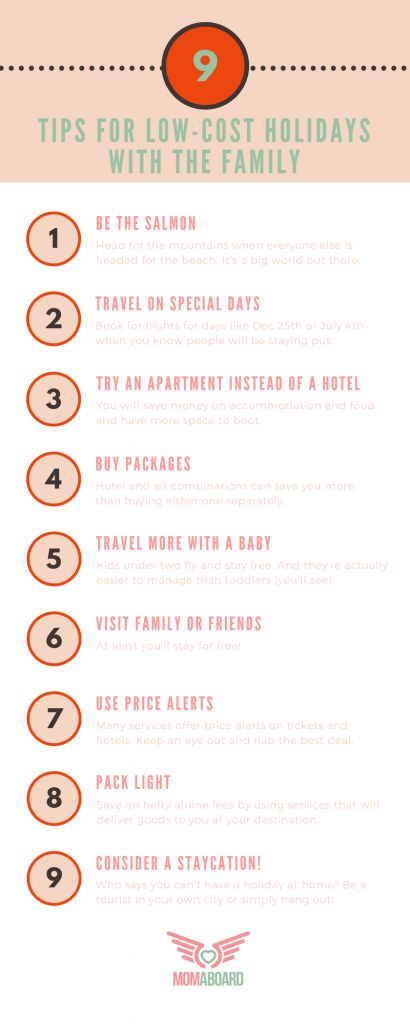 Family travel can be ridiculously expensive. Here are some creative ways to save money.