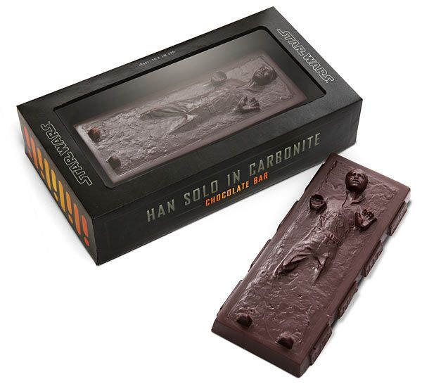 Han Solo Carbonite Chocolate Bar - geeky, yummy goodness.: Hansolo, Only Carbonit, Stars War, Star Wars, Chocolates Bar, Carbonit Chocolates, Han Solo, Hans Solo, Starwars