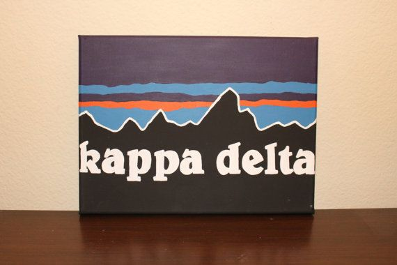 Kappa Delta Patagonia Canvas by KennedysKreationCo on Etsy