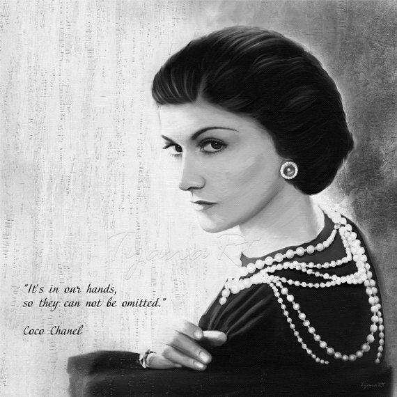 Coco Chanel print Inspirational quote print Black and by TyanaRt
