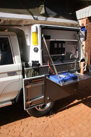 Abba Camper Compact model kitchen with loose table storage