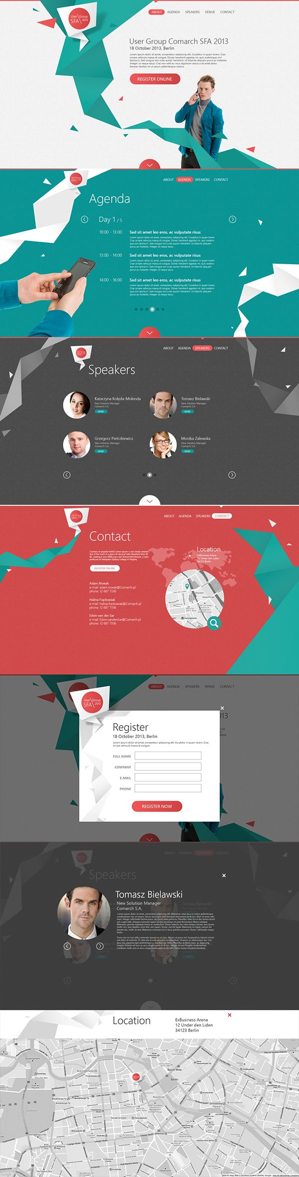 User Group SFA 2013 by Leszek Jędraszczak, via Behance #strongmessage #clean #uniquebackground #app #nicecolor