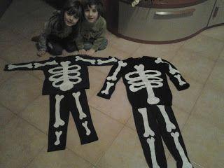 costumi da scheletro in pochi minuti