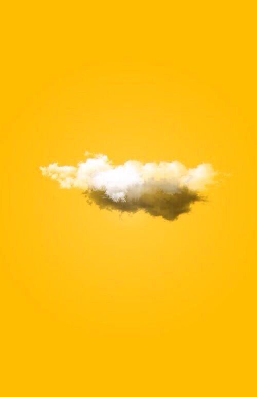 yellow, clouds, and aesthetic kép