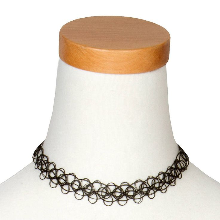 Thick Black Tattoo Choker Necklace | Claire's