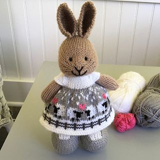 A winter version of the Love Ewe dress found here with a fence added along the hem and snowflakes in the sky.  The dress was knit with a long tail cast on of 96 stitches. After the garter stitch he...