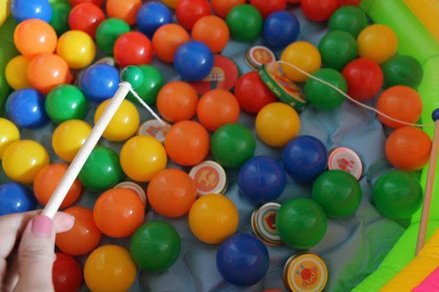Zirkus Angelspiel Kindergeburtstag Spiele