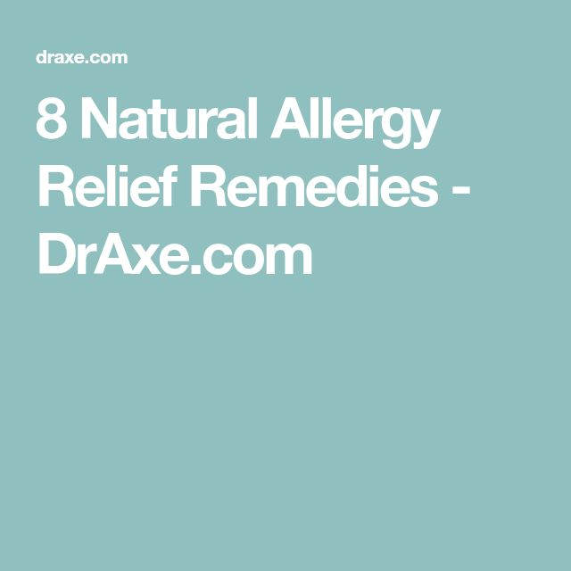 8 Natural Allergy Relief Remedies - DrAxe.com