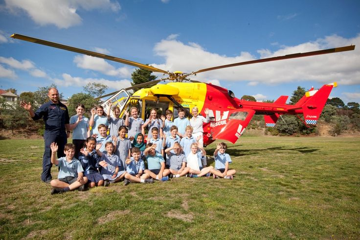 Helicopter landings are so much fun! Such a great day at Glen Dhu Primary School!