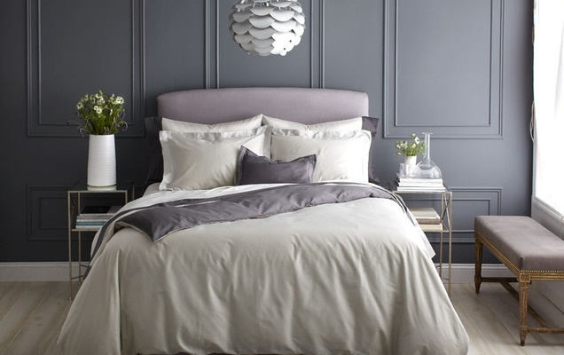Sleep Well: Create a Tranquil Bedroom - Gilt Home: Wall Colors, Solid Colors, Decor Ideas, Wall Colour, Guest Bedrooms, Grey Wall, Future Plans, Boards Mast Bedrooms, Bedrooms Ideas