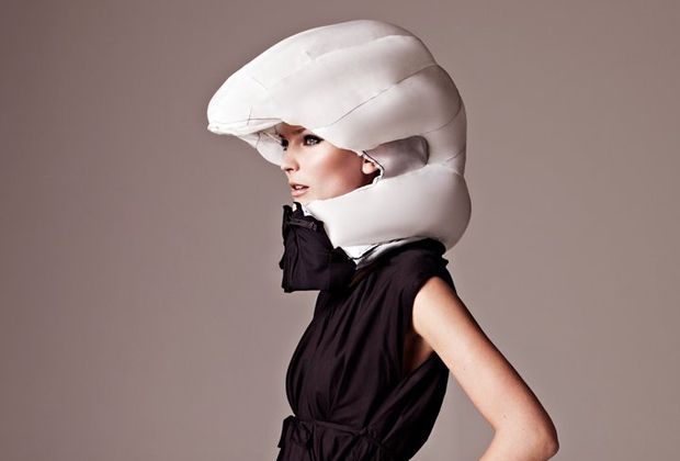 Hövding Invisible Bicycle Helmet via coolhunting: Helmet 1, Airbag Helmet, Airbag Bike, Coolest Bike, Invisible Helmet, Fashionable Bike, Bike Helmet Design