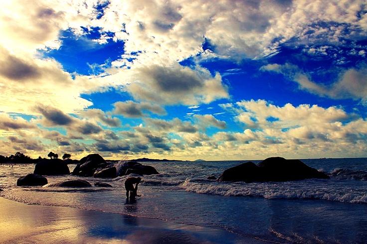 Rambak Beach on Bangka Island , Indonesia