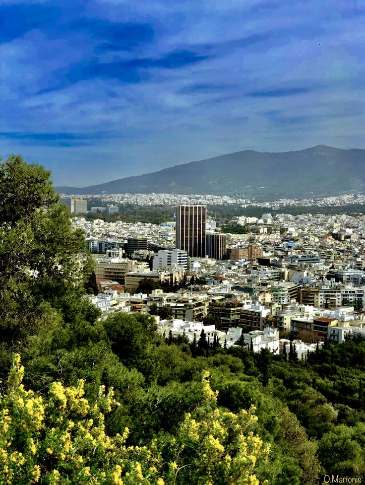 Athens view from Lycabettus Hill,Athens,Greece