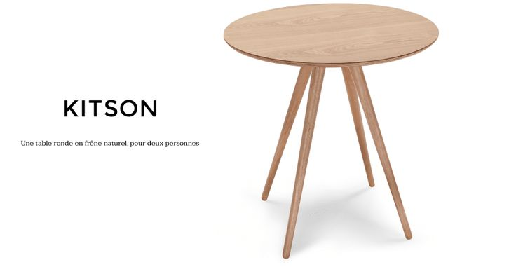 Kitson, une table ronde en frêne naturel | made.com