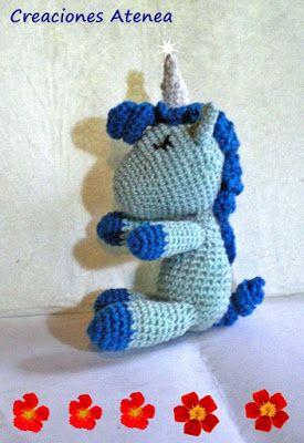 Creaciones Atenea: Mi unicornio azul