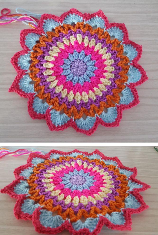 Free Mandala Crochet Pattern - intheloopcrafts.blogspot.com