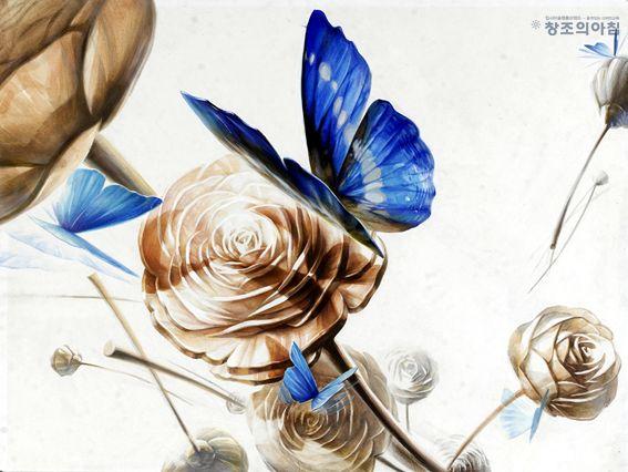 #기초디자인 #장미꽃 #나비 #창조의아침 #홍대앞창조의아침 #디퓨저 #butterfly #rose