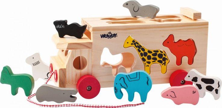 Woody Kamion s vkládacími tvary - zvířátka | MALL.CZ