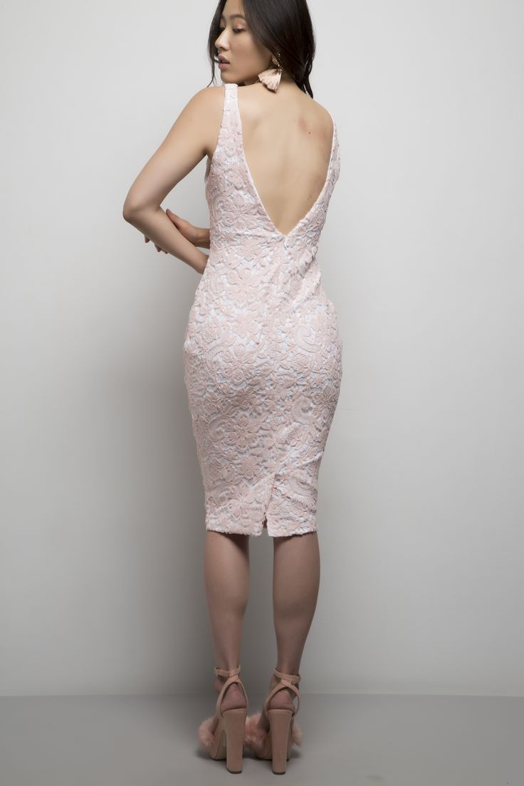 Zoe Dress. Available in blush pink and white combo or navy.