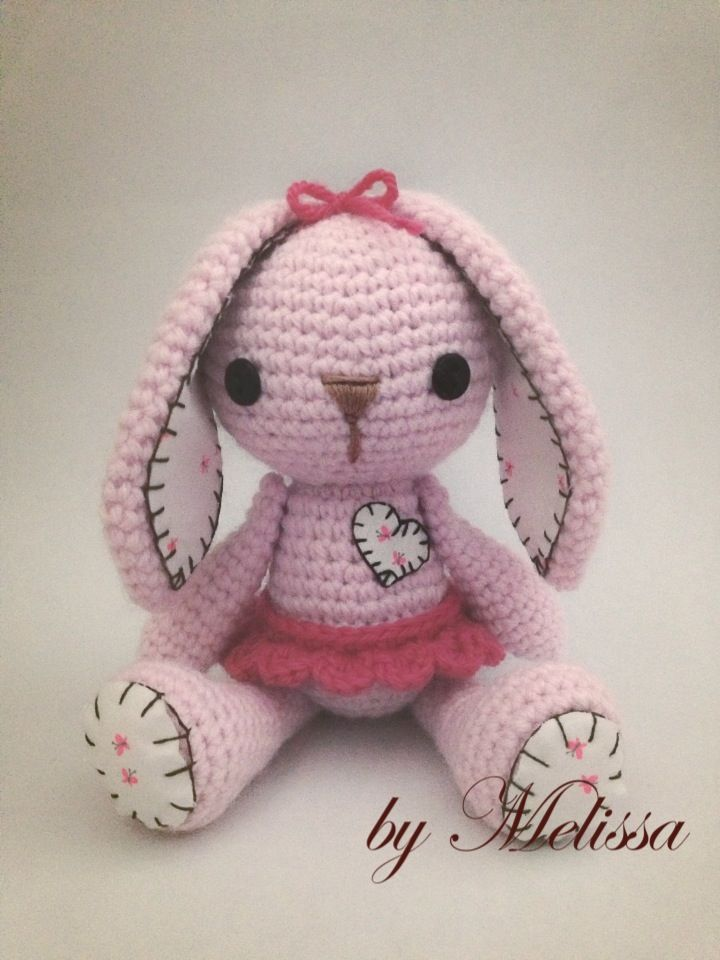 Pinky The Rabbit Amigurumi Crochet Pattern : 72 best images about bunnies on Pinterest Free pattern ...