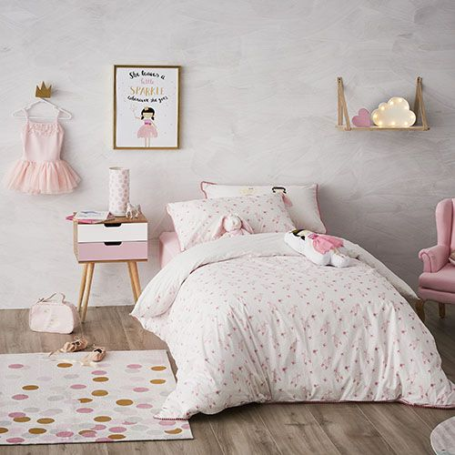 Adairs Kids - Ballet Girls Quilt Cover Set - Bedroom - Quilt Covers & Coverlets - Adairs Kids Online