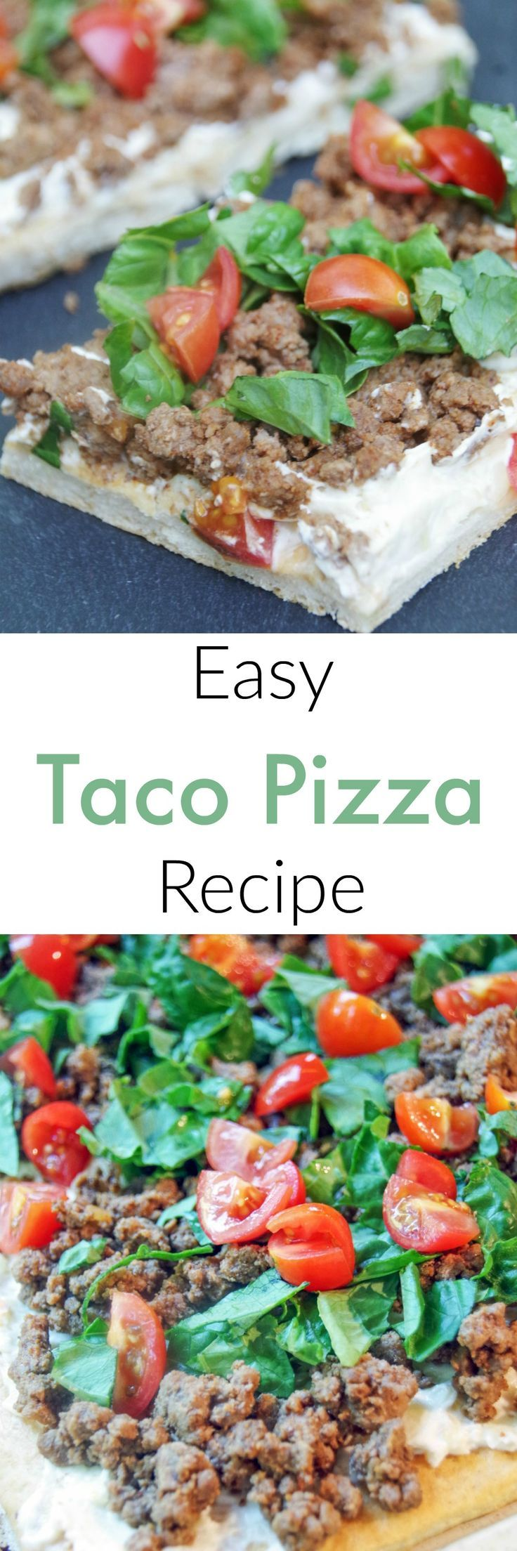 Easy Taco Pizza Recipe is a Simple Dinner Idea that Everyone will Love!